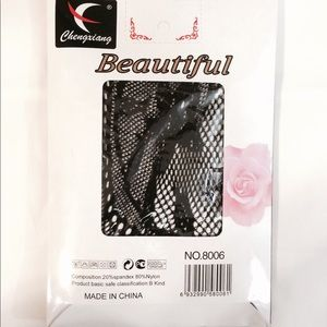 Accessories - Sexy black floral lace pattern tights pantyhose